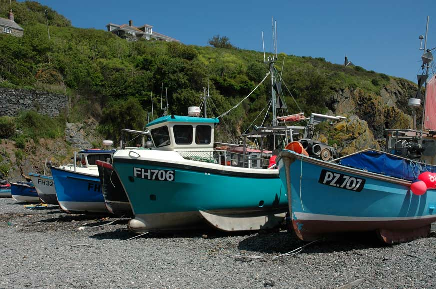 cadgwith-boats