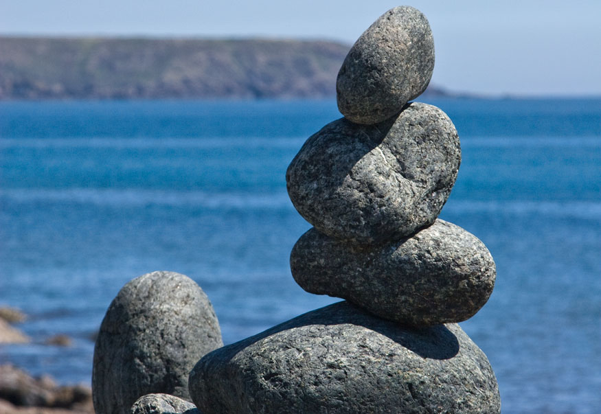 Balance rocks at Carleon Cove