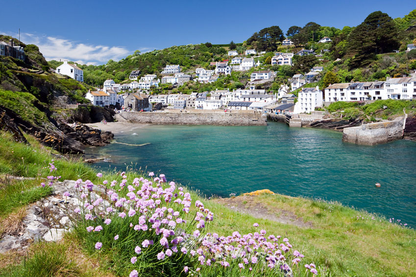 Polperro Beach and Harbour