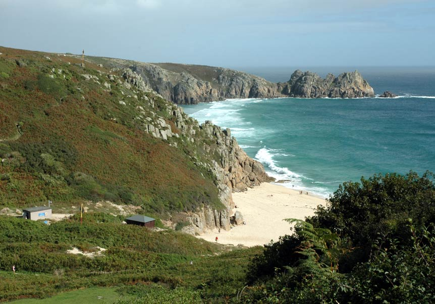 Porthcurno Cove to Treen view