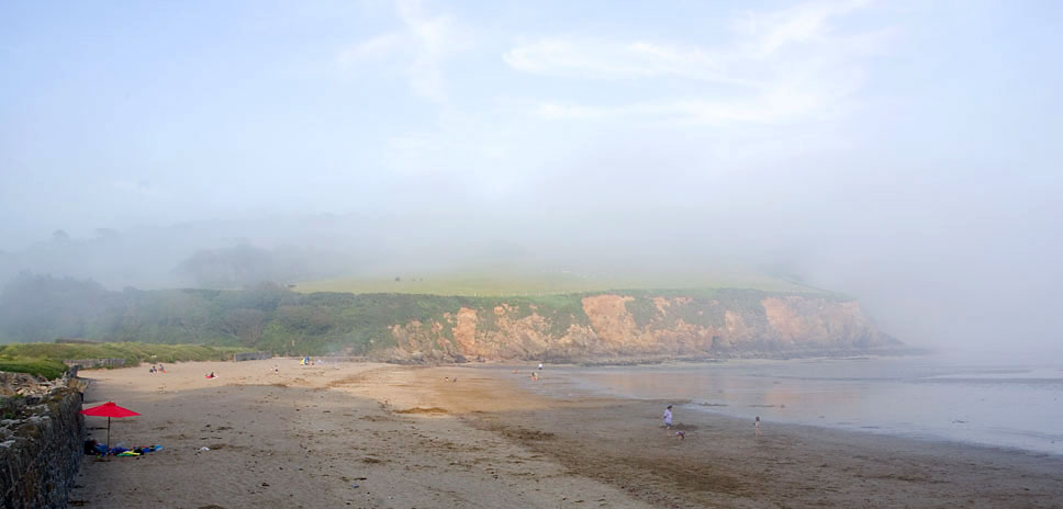 Porthluney Beach Fog